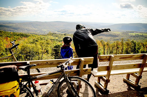 Photo credit Wendy Bristol, from Adventure Cyclist Family Fun Tour on the Great Allegheny Passage