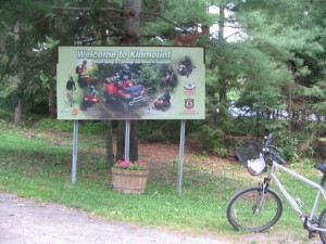 Welcome to Kinmount ATV sign