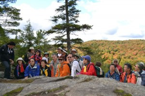 Hikers enjoy a rugged ridge trail with stirring views during the Hike Haliburton Festival.